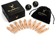 Official Nuddie Golf Tee Lady by NuddieTees.com - Includes 10 Nudie Lady Golf Tees - Order Today & Get 2 *Free* Collectable Black Colored Golf Balls & BONUS Accessories Bag, Kit Doubles as Divot Repair Tool & Ball Marker - The Perfect Holiday Golf Gift or