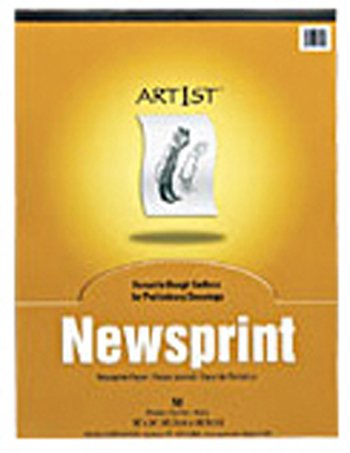19 Pack PACON CORPORATION ART1ST NEWSPRINT PAD 9X12 50 SHT by Pacon