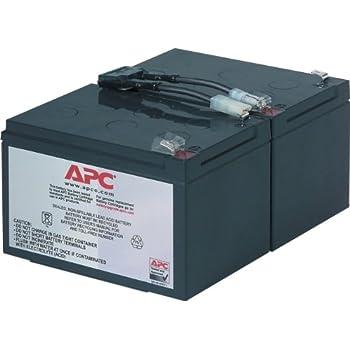 APC UPS Replacement Battery Cartridge for APC UPS Models SMC1500, SMT1000 and SUA1000 (RBC6)