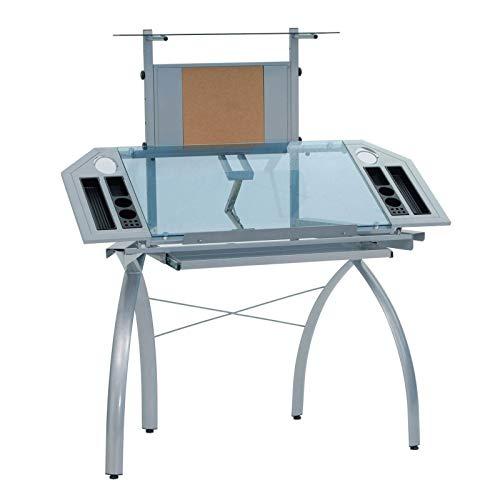 Studio Designs 10057 Futura Tower, Silver/Blue Glass (Table Artist)