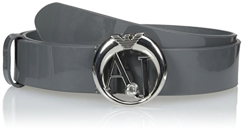 Armani Jeans Women's Aj Buckle Belt, Grey, L by ARMANI JEANS