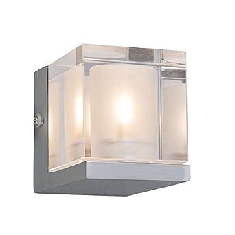 QAZQA Design/Modern/Bad/Badezimmer Wandleuchte Dice 1 Chrom ...