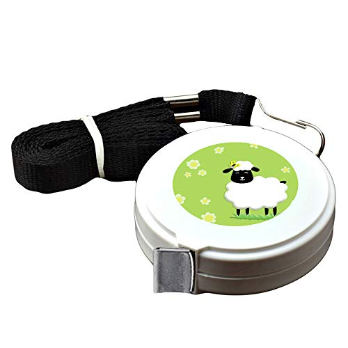 1.5 Meter White tape measure Sheep Tape Measure for Body customized image tape measure sewing Automatic retractable tape measure clothing measuring Tape Measure fractions Self Lock - Sheep Tape Measure