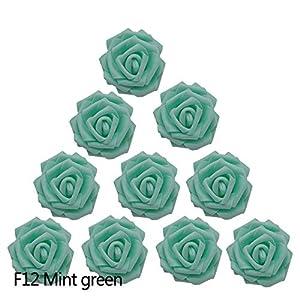 BeesClover 30Pcs/Lot 8Cm Big Pe Foam Roses Artificial Flower Heads for Wedding Event Decoration DIY Wreaths Home Garden Decorative Supplies 82