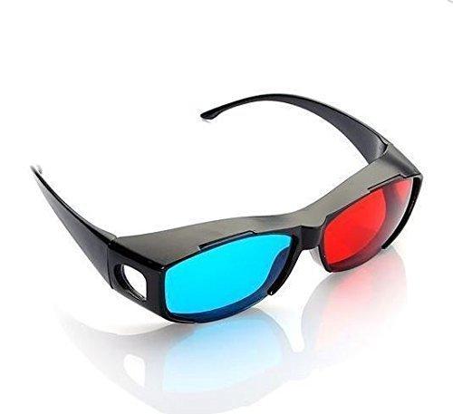 NiceWave 3D Glasses Direct-3D Glasses - Nvidia 3D Vision Ultimate Anaglyph 3D Glasses - Made to Fit Over Prescription Glasses
