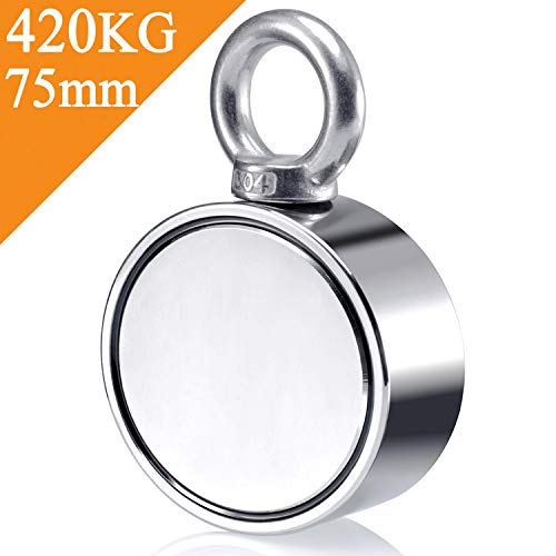 Uolor Double Side Round Neodymium Fishing Magnet, Combined 420KG...