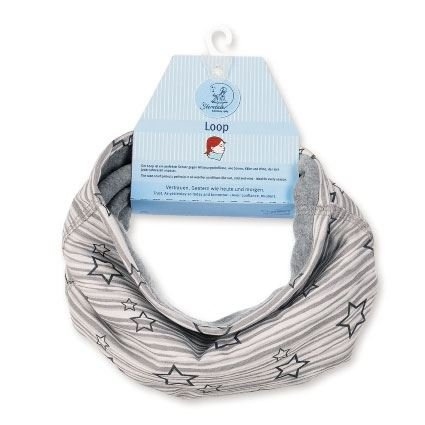 Sterntaler - Girls Loop Scarf Star, Gray - 4221721g Gray - 4221721g - SGrau