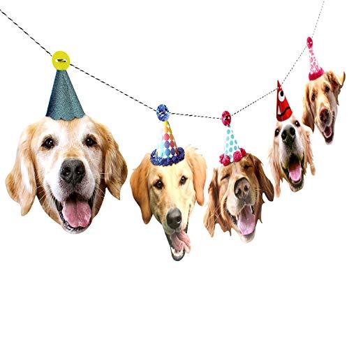 Golden Retriever Garland - dog birthday party banner decoration