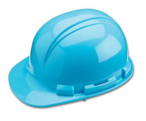 Dynamic Safety HP221/06 Whistler Hard Hat with 4-Point Plastic Suspension and Pin Lock Adjustment, ANSI Type I, Light Blue