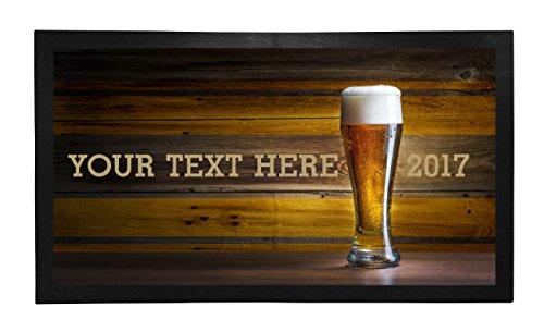 Bar Runner Wooden Bar Pint Drip Spill Mat Personalized Ba...