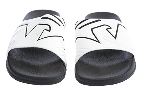 Emporio Armani Eagle Print Slide Sandals Black Black/White aQ0FE