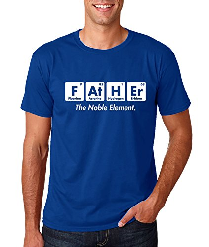 (AW Fashions Father The Noble Element - Gift for Dad Funny Chemistry Elements Premium Men's T-Shirt (XX-Large, Royal Blue))