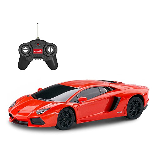 RASTAR RC Lamborghini | 1:24 Lamborghini Aventador LP 700-4 Remote Control Toy Car - 27MHz/40MHz, Orange