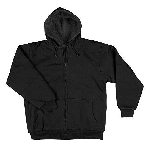 Razio - Men's Hooded Sweatshirt, Sherpa Lined, Zipper Front - Medium, ()