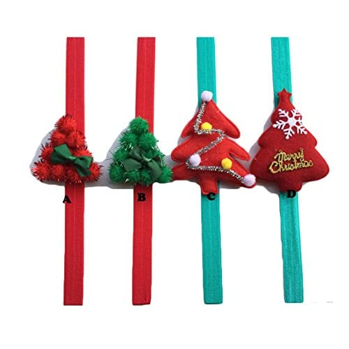 Christmas Headband For Baby Girl.Baby Girl Christmas Headband Ball Christmas Tree Infants