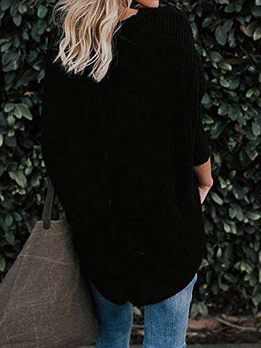 5b4af9754 Sarin Mathews Womens Long Sleeve V Neck Button Down Waffle Knit Loose  Casual Shirts Tunic Tops