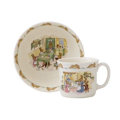 One Handled Bowl (Royal Doulton Bunnykins Classic Nurseryware 2 Piece Infant Set, Multicolored)
