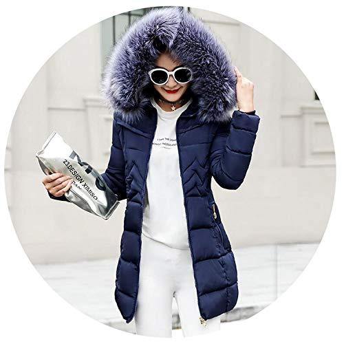 (Jacket 2018 Winter Coat Women Fake Fur Collar Warm Woman Parka Outerwear Down Jacket Winter Jacket Women)