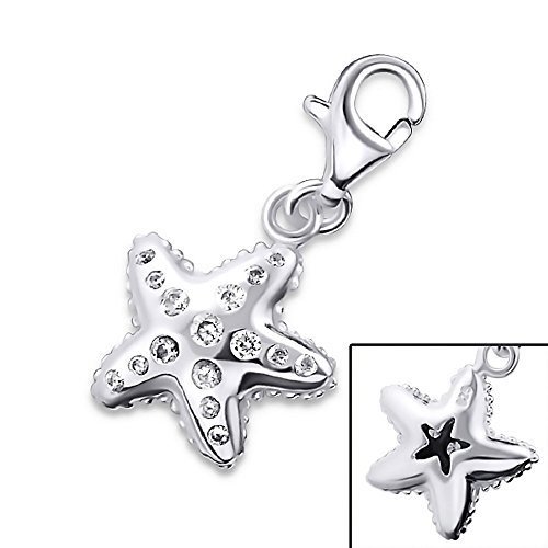 Cubic Zirconia Starfish Charm - 2