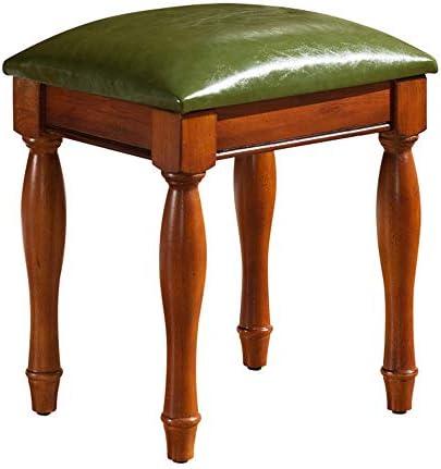 ピアノスツール ドレッシングテーブルPUレザーピアノスツールアメリカの古筝ドラムマニキュアチェア木製ピアノ・キーボードスツール メンテナンスが簡単で実用的 (色 : 緑, Size : 38x31.8x42cm)