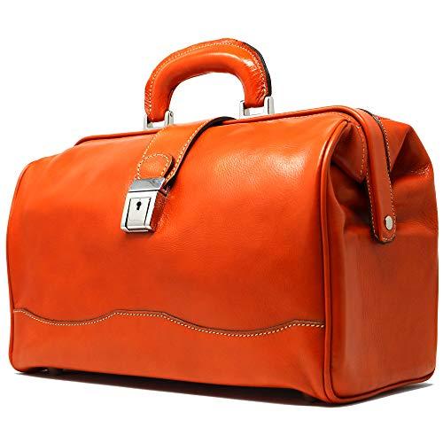 Ciabatta Doctor Satchel Bag Color: Orange from Floto