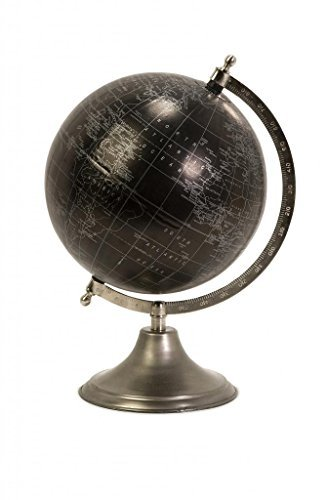 Decoratively Timeless Moonlight Globe With Nickel Finish Stand Home Desk Accessories Décor - Antique Finish Table Mirror