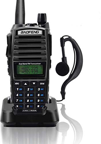 Baofeng Two Way Radio UV82-8W Dual Band VHF(36-174MHZ)/UHF(400-520MHZ) Amateur Ham Portable Radio, High Power Long Range Walkie Talkie with LCD Scree