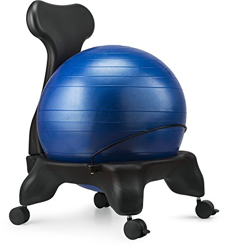 Ball Chair, LuxFit Premium Fitness Exercise Ball Chairs For Home And Office 2 Year Warranty! With 2000lbs Static Strength Ball Great Office Desk Chair, and Stability Ball Chair (Blue)