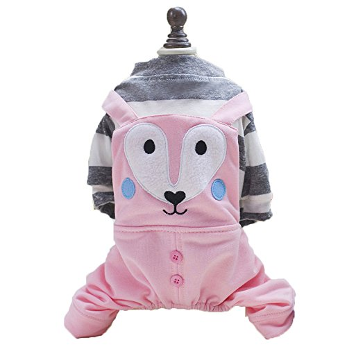 [S-Lifeeling Fox Pattern Lovely Shirts Cute Dress Spring Summer Teddy Dog Clothes Pet Costumes] (Wiener Dog Spider Costume)