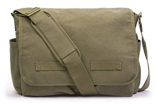 Sweetbriar Classic Messenger Bag - Vintage Canvas Shoulder Bag for All-Purpose Use (Satchel Bag)