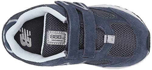 New Balance Boys' 888v2 Hook and Loop Running Shoe, Navy/Grey, 2 W US Infant by New Balance (Image #7)