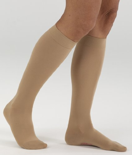 (Mediven Style 447 15-20mmHg Closed Toe Over the Calf in Nude - Size II)
