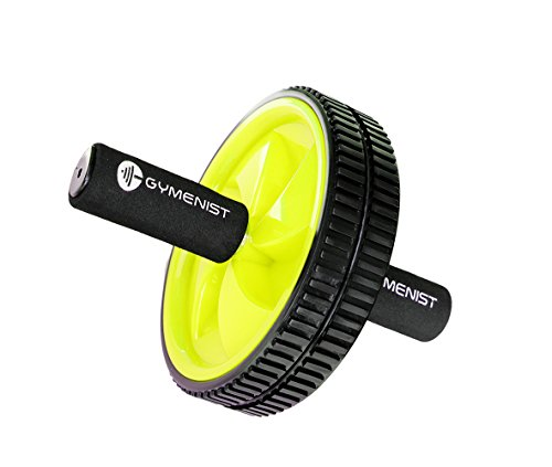 Abdominal Exercise Ab Wheel Roller with Foam Handles, Great Grip, Double Wheels, Top Professional Quality (Yellow) (Lower Ab Machine compare prices)