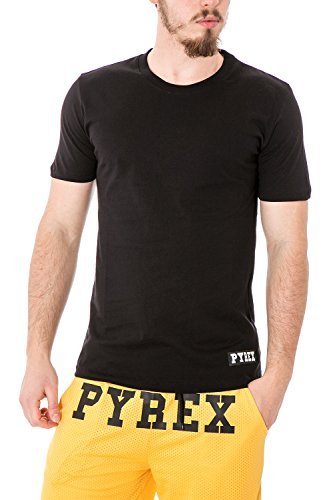 PYREX - Herren regular fit printed t-shirt 33322 L Schwarz