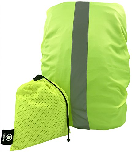 e30844cf47 HiVisible Reflective Waterproof Backpack Rain Cover - Rainproof Protector  for Back Pack - 10-30L … (Green)