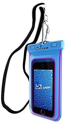 CaliCase Universal Waterproof Floating Case - Blue Glow in Dark (Water Cover Motorola)
