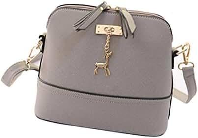 Small Shoulder Bags,Hemlock Women Girls Purse Handbag Wallet Zipper Handbag (Grey)