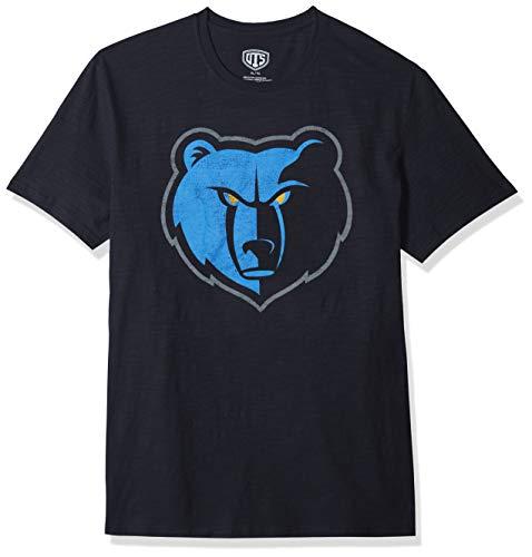 NBA Memphis Grizzlies Male OTS Slub Distressed Tee, Fall Navy, X-Large ()