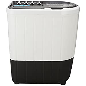Whirlpool Superb Atom 7 Kg Semi-Automatic Washing Machine, Top-Load with TurboScrub Technology, Grey