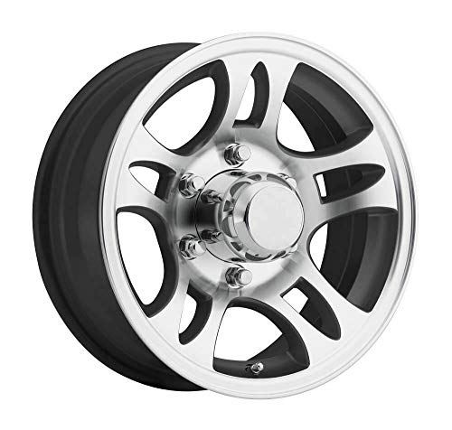 New 15 Inch Black Machined Aluminum 6 Bolt Trailer Rim 2830 lb Capacity T03 56655BM ()