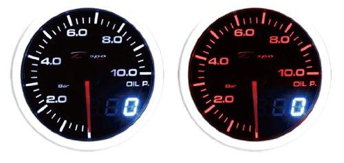 60mm Depo Racing Super White/amber Digital Oil Pressure Gauge Bar