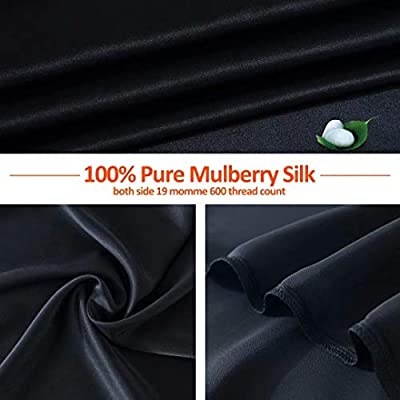 SARAFLORA 100% Pure Mulberry Silk Pillowcase for Hair and Skin – Super Soft  and Smooth Real Natural Silk Bed Pillow Covers with Hidden Zipper,