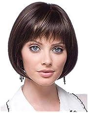 الأزياء الباروكات كوس ارتفاع درجة الحرارة الحرير الشعر القصير البني الأسود لون الشعر الباروكة 25 سنتيمتر -30 سنتيمتر