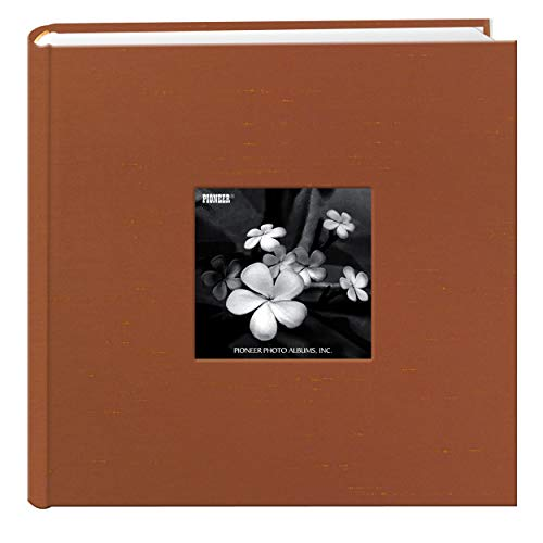 Pioneer Photo Albums 200 Pocket Copper Silk Fabric Frame Cover Photo Album for 4 by 6-Inch Prints (Fabric Frame Covered Picture)