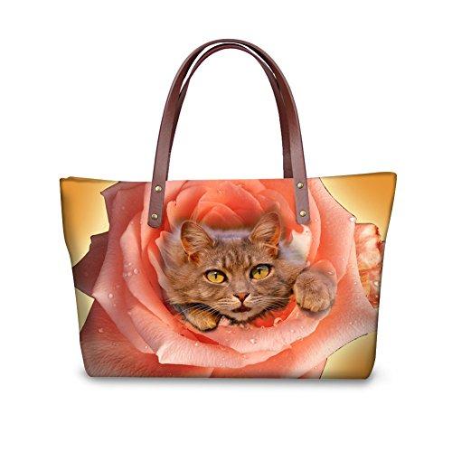 Wallets Fashion Women Foldable Top Handle Handbags Satchel FancyPrint Purse Nyecc3494al Bags qpEEdS