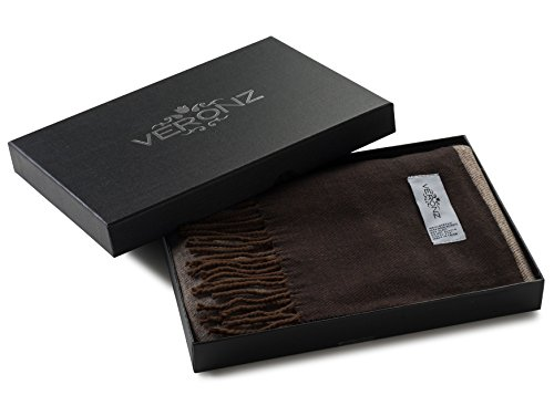 Veronz Super Soft Luxurious Classic Cashmere Feel Winter Scarf (Big Plaid 1) Wuth Gift Box