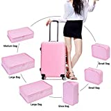 Travel Packing Organizer 6 Set, JJ POWER Packing