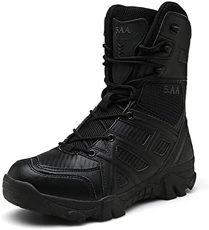 Men Tactical Army Boots wasserdicht Casual Military Booties zum Klettern Wandern Angeln(Black,46)