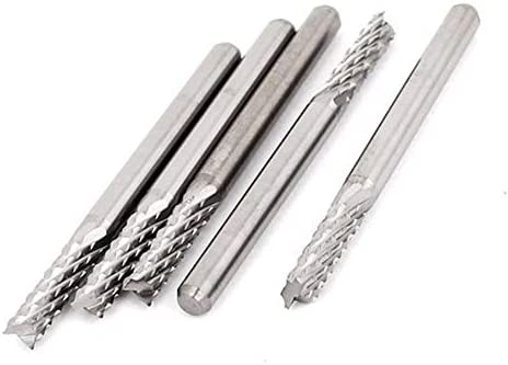 Carbide Milling Cutters for Factory Grinding Tools 3mm Micro CNC/PCB Carbide Drill Bit 3.175mm Shank Tungsten Steel Cutter for Engraving Machine 5PCS