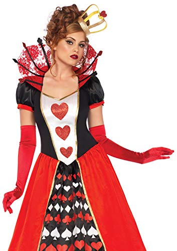 Leg Avenue Women's Wonderland Queen of Hearts Halloween Costume, Multi, X-Large]()